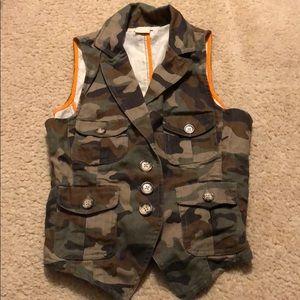 Michael Kors Camo Camoflauge Vest XS Military